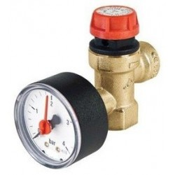 6 Bar Pressure Relief Valve With Gauge