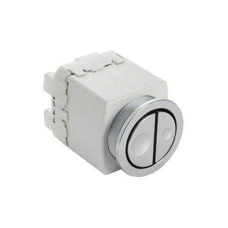 Geberit 241.413.21.1 Pneumatic Dual Flush Push Button