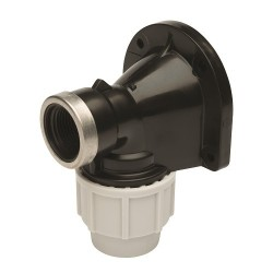 """Plasson Wall Plate Elbow (PP) 20mm x 1/2"""""""