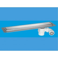 McAlpine Brushed 1200mm Channel Drain