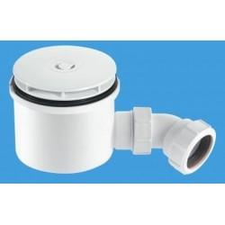 "McAlpine 1 1/2"" 90mm Hi-Flow Shower Trap ST90WH10-HP2"