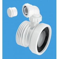 McAlpine Straight Rigid WC Connector With Vent Boss WCCON1V