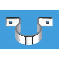 McAlpine 42mm Chrome Plated Plastic Pipe Clip MCALPINE-S42-CP
