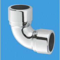 McAlpine 35mm Chrome Plated Elbow 90Deg MCALPINE-35A-CB