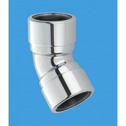 McAlpine 35mm Chrome Plated Elbow 45Deg MCALPINE-35B-CB