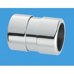 McAlpine 32mm (Euro) Chrome Plated Straight Connector MCALPINE-32G-CB