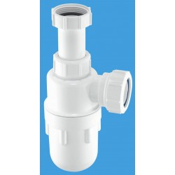 McAlpine 32mm Adjustable Inlet Bottle Trap with Multifit Outlet A10A