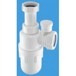 McAlpine 40mm Anti-Syphon Adjustable Inlet Bottle Trap with Multifit Outlet C10AV