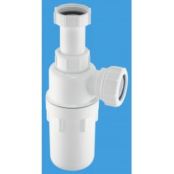 McAlpine 32mm Resealing Adjustable Inlet Bottle Trap with Multifit Outlet A10AR