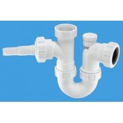 McAlpine Anti-Syphon Sink Trap with Horizontal Nozzle MCALPINE-WM2V