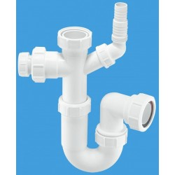 McAlpine Tubular Swivel Sink Trap with WM and 19/23mm Pipe Connection MCALPINE-ASC10-CO