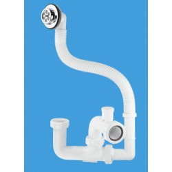 McAlpine 75mm Seal Anti-Syphon Bath Trap with Flexible Overflow FJ10V