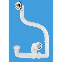 McAlpine 60mm Seal Extended Body Bath Trap with Flexible Overflow FSK10E