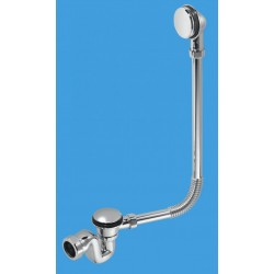 McAlpine 50mm Chrome Bath Trap with Combined Waste and Overflow BRASSTRAP-50-CP