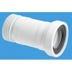 McAlpine 110mm Straight Flexible WC Pan Connector 170-410mm Length WCF26R