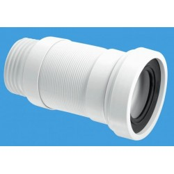 McAlpine 90mm Straight Flexible WC Pan Connector 100-160mm Length WCF18S
