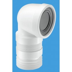 McAlpine 90 Degree Flexible WC Pan Connector 190-270mm Length WCCON8F18