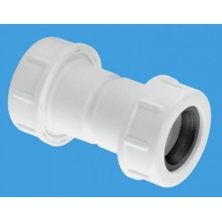 McAlpine Flexible to Rigid Overflow Pipe Straight Connector R1MCO