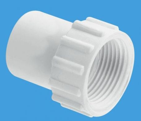 McAlpine Straight Female Overflow Coupling With Fixed Nut R6