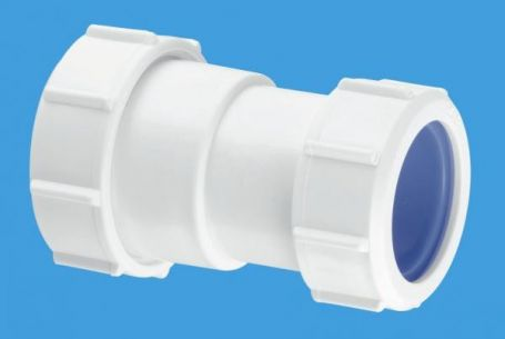 """McAlpine 1 1/2"""" x 40mm Multifit Straight Connector - Multifit x European Pipe Size T28LISO"""