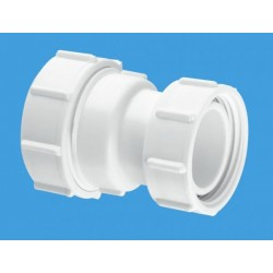 """McAlpine 1 1/2"""" Straight Connector Multifit x BSP Coupling Nut T29LN"""