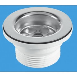 "McAlpine 1 1/2"" 70mm Flange Centre Pin Sink Waste BSW10PR"