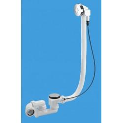 McAlpine Pop-Up Push Button Bath Waste and 575mm Overflow PUBPB575