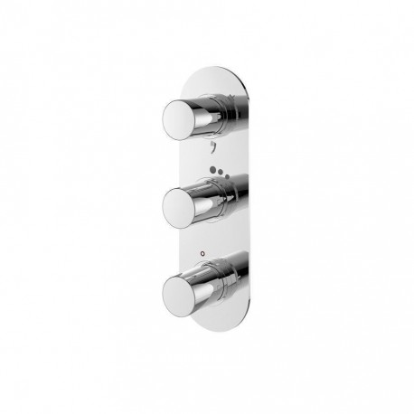 Ideal Standard Oval Thermostatic Shower Valve Chrome A6131AA