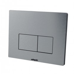 Macdee Brushed Aluminium Design dual flush control plate 55720351