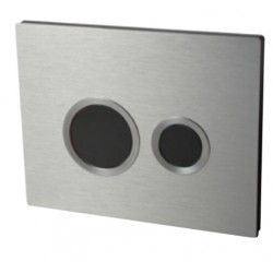 Macdee Brushed Aluminium dual flush control plate 55721305