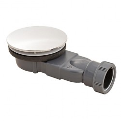 Macdee Slim 90mm Shower Waste Metal Dome (Waterless trap) 30120190