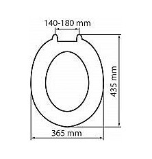 Moulded MDF Value Toilet Seat 82010