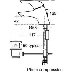 Ideal Standard Ceraplan Basin Mixer