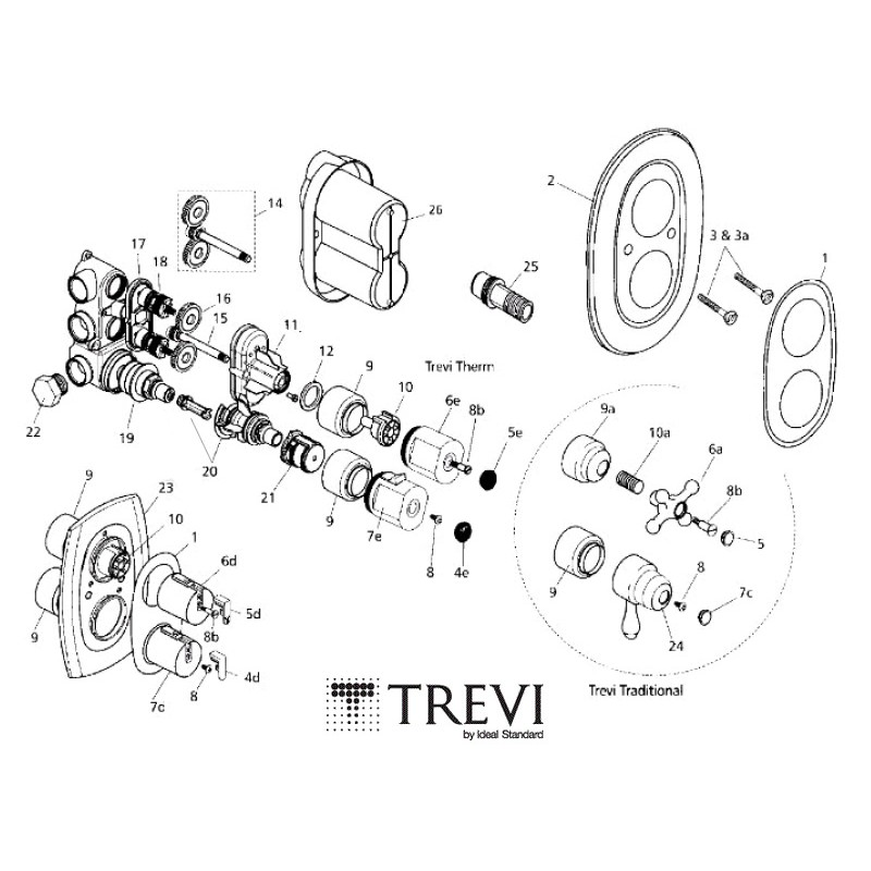 Trevi Therm S960134nu Thermostatic Cartridge
