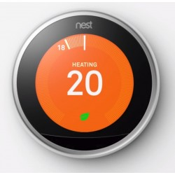 Nest Thermostat 3rd Generation Steel (Latest Model)