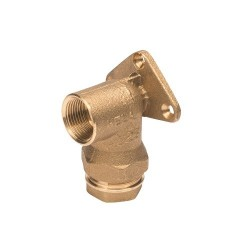 Plasson Wall Plate Elbow (Brass) 25mm x 1/2""