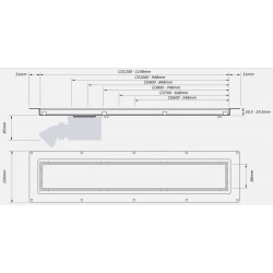 McAlpine Brushed 1200mm Channel Drain CD1200-B