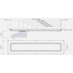 McAlpine Brushed Grid 600mm Channel Drain CD600-SQ