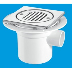 McAlpine Vertical Outlet With Side Inlet Shower Gully 75mm Seal