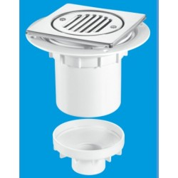 McAlpine Vertical Outlet Shower Gully 75mm Seal