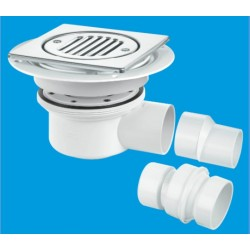 McAlpine 2-Piece Horizontal Shower Gully 50mm Seal