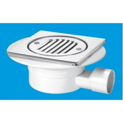 McAlpine Horizontal Shower Gully With Built In Valve