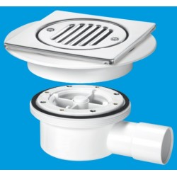 McAlpine 2-Piece Horizontal Shower Gully With Built In Valve