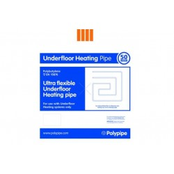 Polypipe 15mm x 50m Underfloor Heating Barrier Pipe Coil