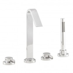 Hudson Reed Clio Basin & Bath Tap Pack