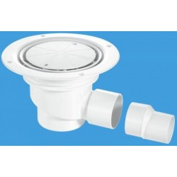 McAlpine Horizontal Shower Gully 75mm Seal TSG1-WH