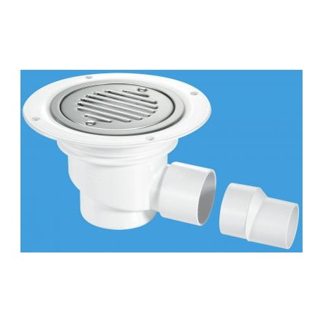 McAlpine Sealed Trapped Shower Gully TSG2WH