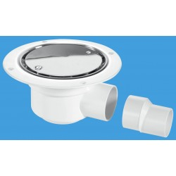 McAlpine Horizontal Shower Gully 50mm Seal TSG50SS