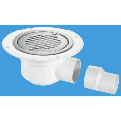 McAlpine Horizontal Shower Gully 50mm Seal TSG50SS-SL-SC