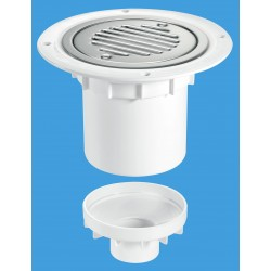 McAlpine 75mm Water Seal Gully with Vertical Outlet TSG2SS-SL-SC